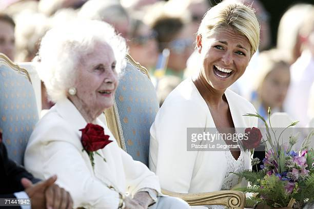 Princess Liliane of Sweden and Princess Madeleine of Sweden attend the Princess Victoria's Birthday concert on July 14, 2006 in Borgholm , Sweden.