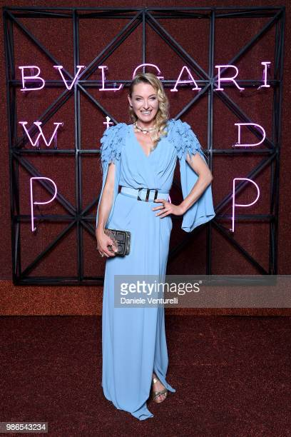 Princess Lilly Sayn Wittgenstein Berleburg attends BVLGARI Dinner Party at Stadio dei Marmi on June 28 2018 in Rome Italy