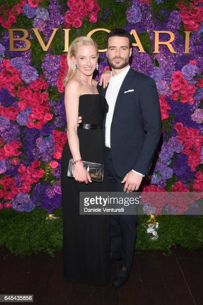 Princess Lilly Zu Sayn Wittgenstein Berleburg and actor Giulio Berruti attend Bulgari's PreOscar Dinner at Chateau Marmont on February 25 2017 in...