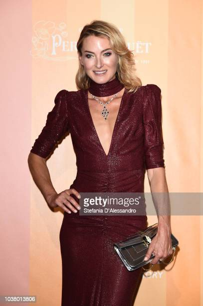 Princess Lilly zu SaynWittgenstein walks the red carpet ahead of amfAR Gala at La Permanente on September 22 2018 in Milan Italy