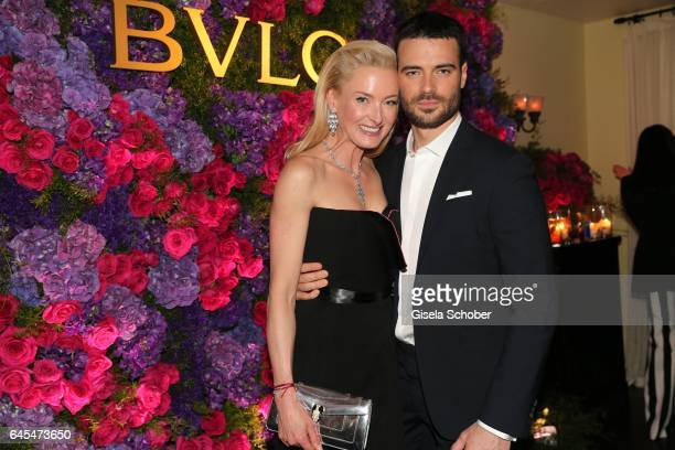 Princess Lilly zu SaynWittgensteinBerleburg and Giulio Berruti during the Bulgari PreOscars party at hotel Chateau Marmont on February 25 2017 in Los...