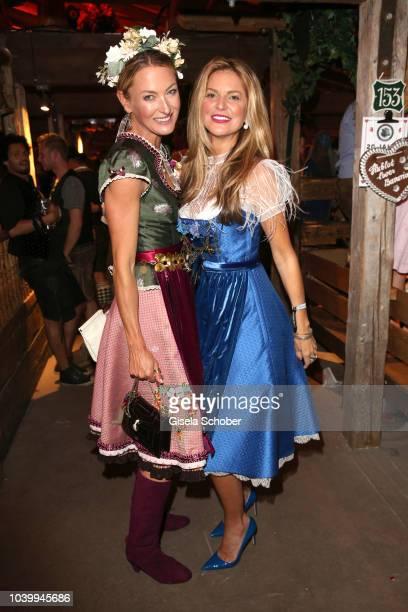 Princess Lilly zu SaynWittgensteinBerleburg Natalie Lefevre dance during the 'Almauftrieb' as part of the Oktoberfest 2018 at Kaefer Tent at...