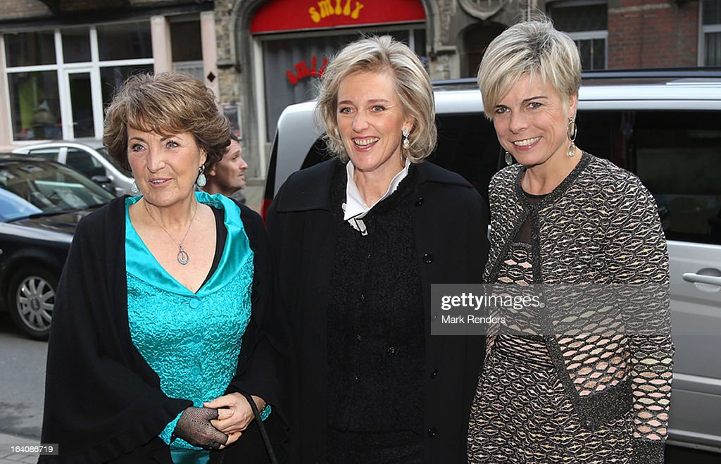 Princess LMargriet of The Netherlands, Princess Astrid of Belgium and Princess Laurentien of The Netherlands attend the 'European Cultural Foundation Princess Margriet Award' on March 19, 2013 in Brussel, Belgium.