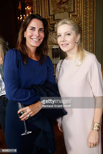 Princess Lorenza de Liechtenstein and Wife of Italy's Ambassador to France Giada Magliano attend Cyril Karaoglan receives the Medal of Commander of...