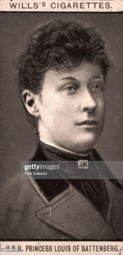 Princess Louis of Battenberg, 1908. Portraits of European Royalty, Wills's Cigarette Cards, Bristol & London.