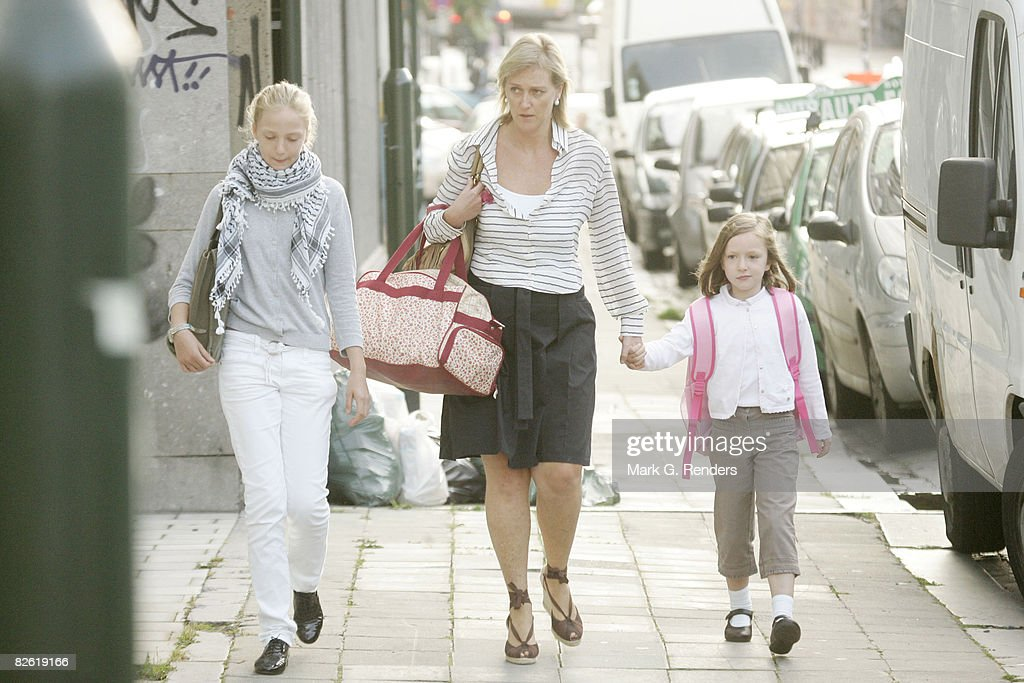 Belgian Royals Attend First Day of School