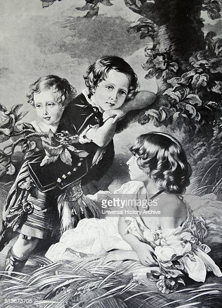 Princess Louise Prince Arthur and Prince Leopold three children of Queen Victoria and Prince Albert 1856