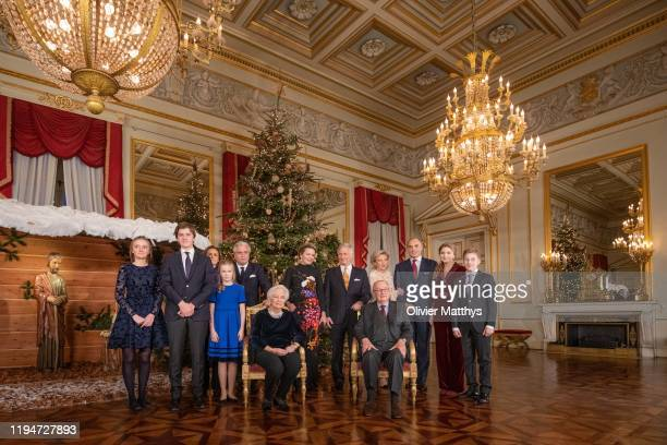 Princess Louise, Prince Gabriel, Princess Claire, Princess Eleonore, Prince Laurent, Queen Paola, Queen Mathilde, King Philippe of Belgium, King...