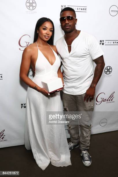 Princess Love and Ray J attend the Galtiscopio Front Row/Backstage September 2017 New York Fashion Week First Stage at The Gallery at The Dream...