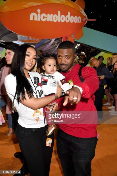 Princess Love Melody Love Norwood and Ray J attend Nickelodeon's 2019 Kids' Choice Awards at Galen Center on March 23 2019 in Los Angeles California