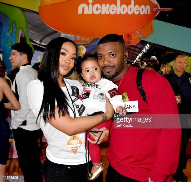 Princess Love Melody Love Norwoodand Ray J attends Nickelodeon's 2019 Kids' Choice Awards at Galen Center on March 23 2019 in Los Angeles California