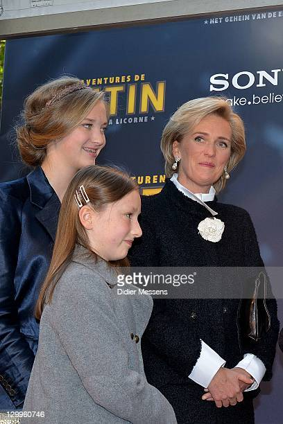 Princess Luisa Maria Princess Laetitia Maria and Princess Astrid of Belgium attend the World Premiere Photocall of 'TINTIN The Secret Of The Unicorn'...