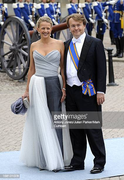 Princess Mabel And Prince Friso Of Holland At The Wedding Of Crown Princess Victoria Of Sweden And Daniel Westling At Stockholm Cathedral