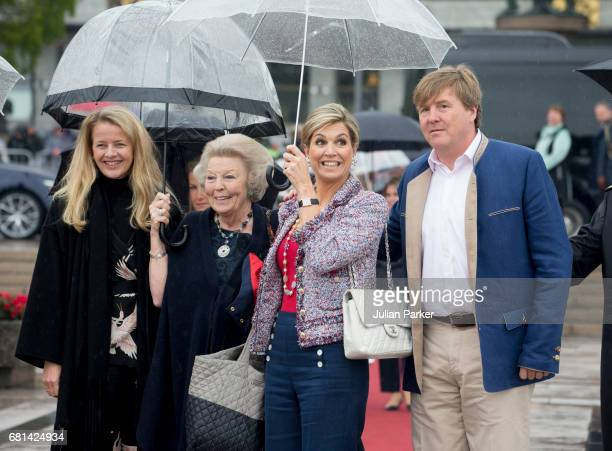 Princess Mabel of OrangeNassau Queen Maxima of The Netherlands Princess Beatrix of the Netherlands and King WillemAlexander of The Netherlands leave...