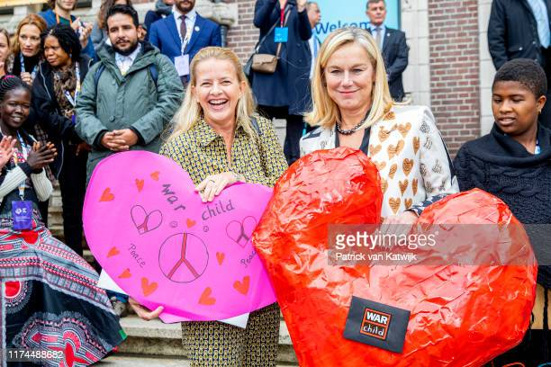 Princess Mabel of The Netherlands and Dutch minister of Development Sigrid Kaag attend the conference Mental Health and Psychosocial Support in...