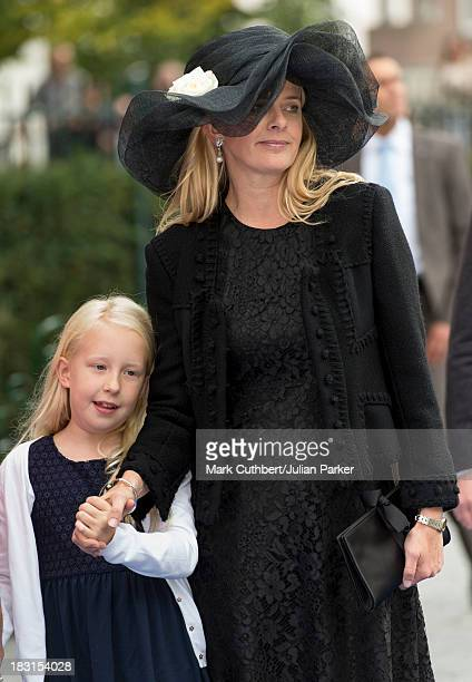 Princess Mabel of the Netherlands and Luanna attending the Wedding Of HRH Prince Jaime de Bourbon Parme and Viktoria Cservenyak at The Church Of Our...
