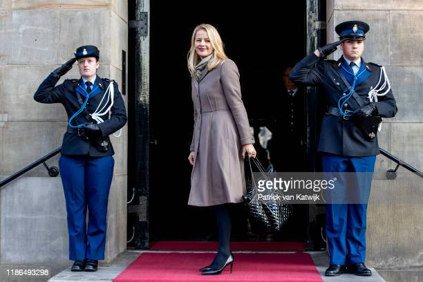 Princess Mabel of The Netherlands attend the Prince Claus Award ceremony in the Royal Palace on December 4, 2019 in Amsterdam, Netherlands. Winner of...