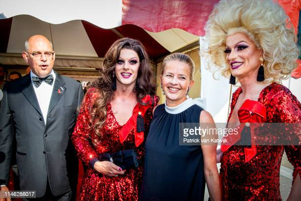 Princess Mabel of The Netherlands attends the AmsterdamDiner to raise money for the fight against aids on May 25, 2019 in Amsterdam, Netherlands....