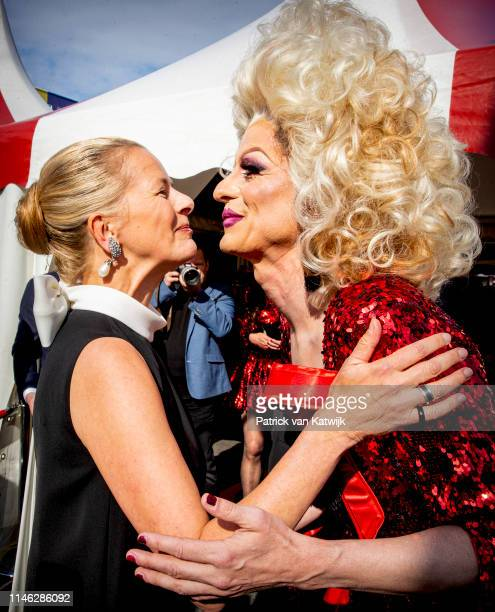 Princess Mabel of The Netherlands attends the AmsterdamDiner to raise money for the fight against aids on May 25 2019 in Amsterdam Netherlands During...