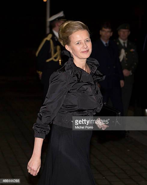 Princess Mabel of The Netherlands leave after attending a celebration of the reign of Princess Beatrix on February 1 2014 in Rotterdam Netherlands