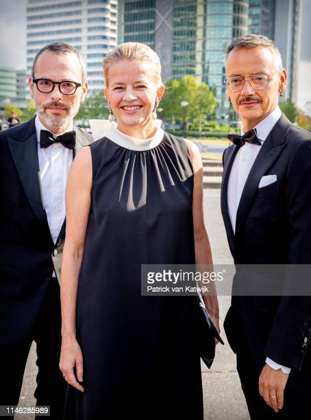 Princess Mabel of The Netherlands with designers Viktor and Rolf attend the AmsterdamDiner to raise money for the fight against aids on May 25, 2019...
