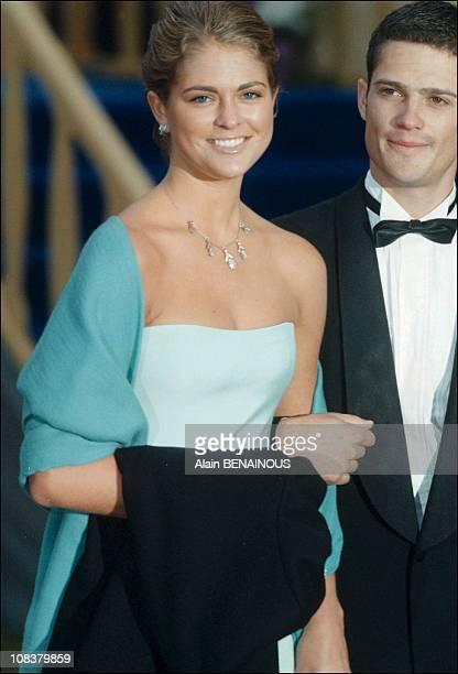 Princess Madeleine and Karl Philipp in Sweden on June 19 2001
