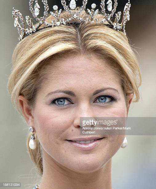 Princess Madeleine At The Wedding Of Crown Princess Victoria Of Sweden And Daniel Westling At Stockholm Cathedral.