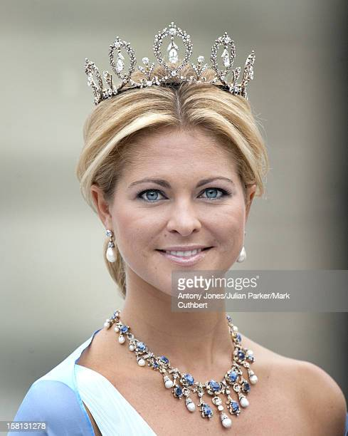Princess Madeleine At The Wedding Of Crown Princess Victoria Of Sweden And Daniel Westling At Stockholm Cathedral