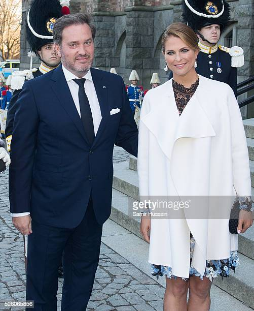 Princess Madeleine of Sweden and Christopher O'Neill arrive to the Nordic Museum to attend a concert of the Royal Swedish Opera and Stockholm Concert...