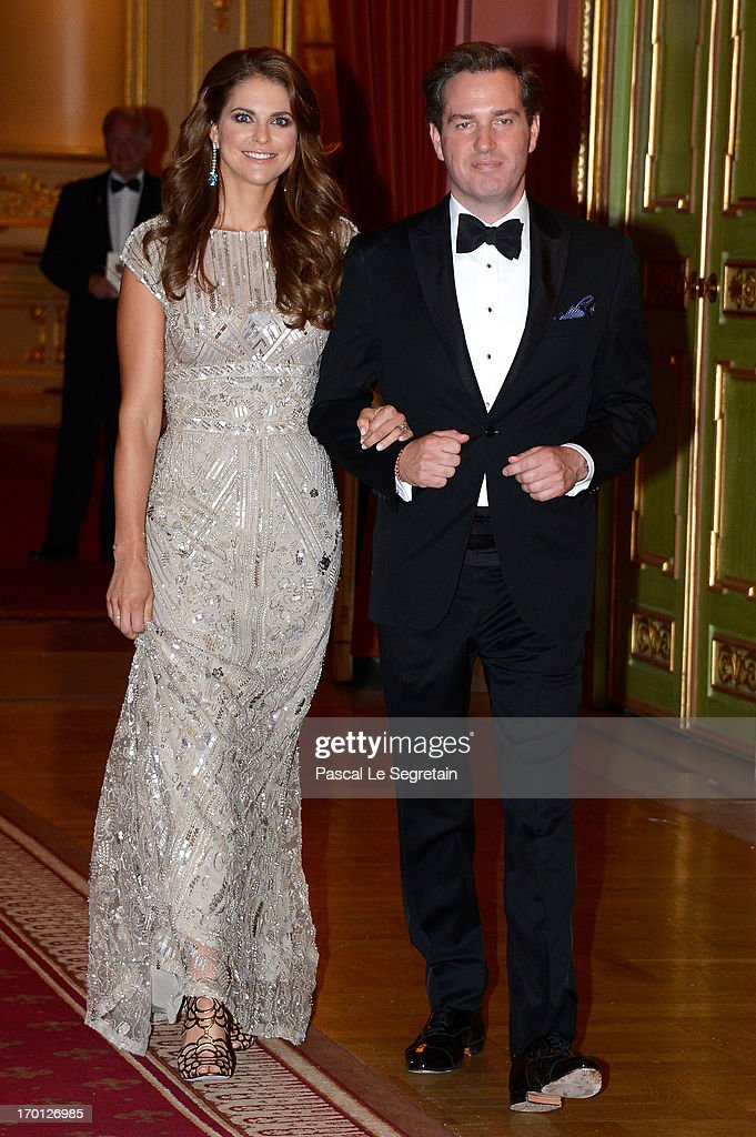 King Carl XVI Gustaf & Queen Silvia Of Sweden Host A Private Dinner Ahead Of The Wedding Of Princess Madeleine & Christopher O'Neill - Inside Arrivals : News Photo