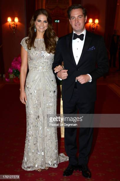 Princess Madeleine of Sweden and Christopher O'Neill attend a private dinner on the eve of the wedding of Princess Madeleine and Christopher O'Neill...