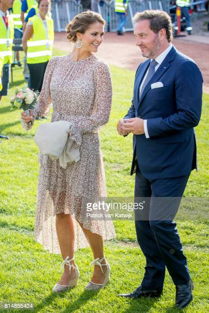 Princess Madeleine of Sweden and her husband Chris O'Neill attend the Victoria day celebration on the occasion of The Crown Princess Victoria of...