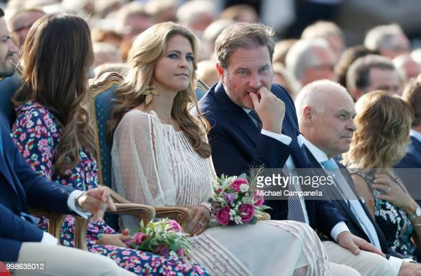 Princess Madeleine of Sweden and her husband Chris O'Neill during the occasion of The Crown Princess Victoria of Sweden's 41st birthday celebrations...