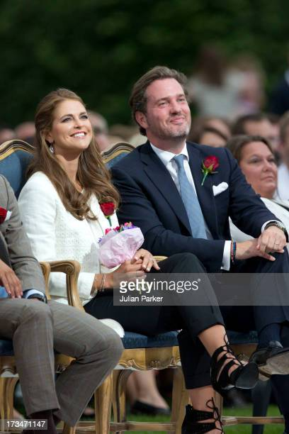 Princess Madeleine of Sweden, and her husband Christopher O'Neill attend The Victoria Day Concert in Borgholm, on Crown Princess Victoria of Sweden's...
