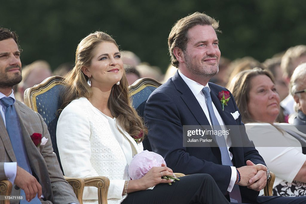 Princess Madeleine of Sweden, and her husband Christopher O'Neill attend The Victoria Day Concert in Borgholm, on Crown Princess Victoria of Sweden's 36th Birthday on July 14, 2013 in Borgholm, Sweden.