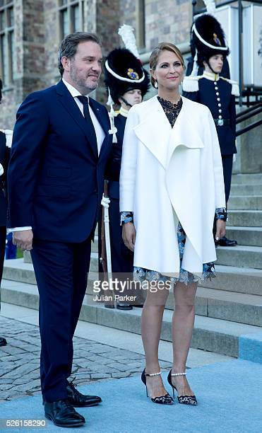 Princess Madeleine of Sweden and husband Christopher O'Neill arrive for a Concert at the Nordic Museum on the eve of King Carl Gustaf of Sweden's...