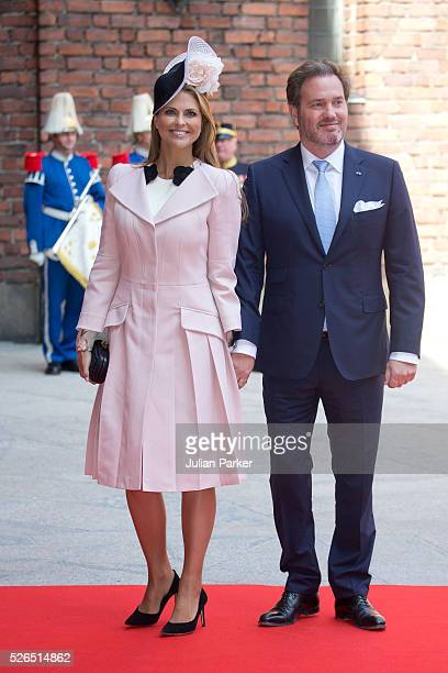Princess Madeleine of Sweden and husband Christopher O'Neill attend a Lunch at City Hall Stockholm on the occasion of King Carl Gustaf of Sweden's...