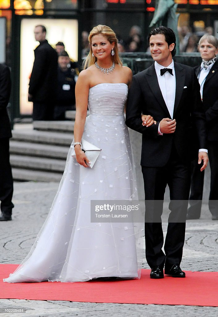 Princess Madeleine of Sweden and Prince Carl Philip of Sweden attend the Government Gala Performance for the Wedding of Crown Princess Victoria of Sweden and Daniel Westling at Stockholm Concert Hall on June 18, 2010 in Stockholm, Sweden.