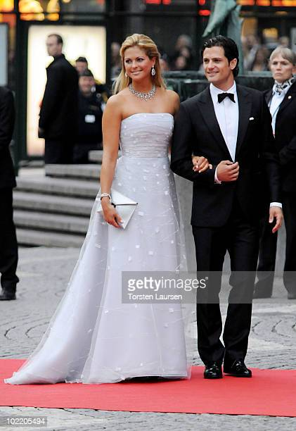 Princess Madeleine of Sweden and Prince Carl Philip of Sweden attend the Government Gala Performance for the Wedding of Crown Princess Victoria of...