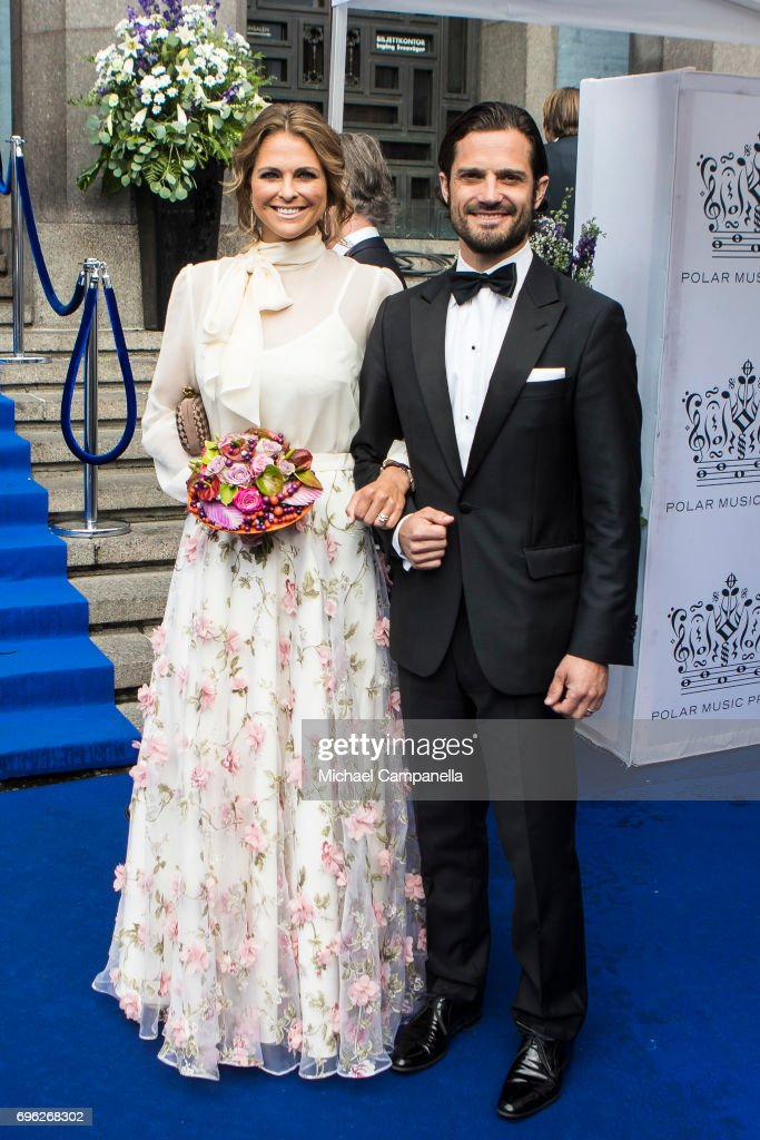 Princess Madeleine of Sweden and Prince Carl Philip of Sweden attend Polar Music Prize on June 15, 2017 in Stockholm, Sweden.