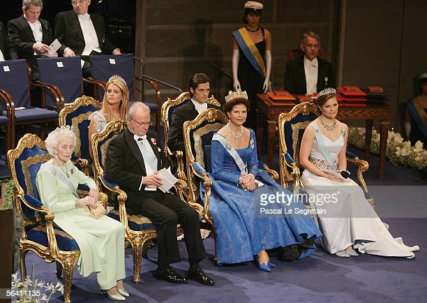 Princess Madeleine of Sweden and Prince Carl Philip of Sweden, Princess Lilian of Sweden, King Carl XVI Gustaf of Sweden, Queen Silvia of Sweden and...
