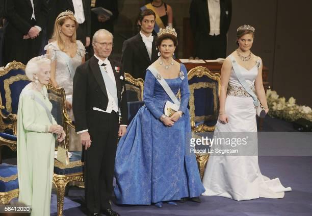 Princess Madeleine of Sweden and Prince Carl Philip of Sweden, Princess Lilian of Sweden, King Carl XVI Gustaf of Sweden, Queen Silvia of Sweden and...