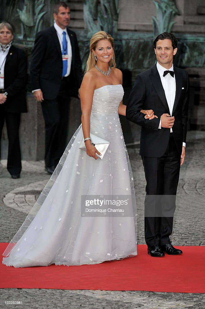 Princess Madeleine of Sweden and Prince Carl-Philip of Sweden attend the Government Gala Performance for the Wedding of Crown Princess Victoria of Sweden and Daniel Westling at Stockholm Concert Hall on June 18, 2010 in Stockholm, Sweden.