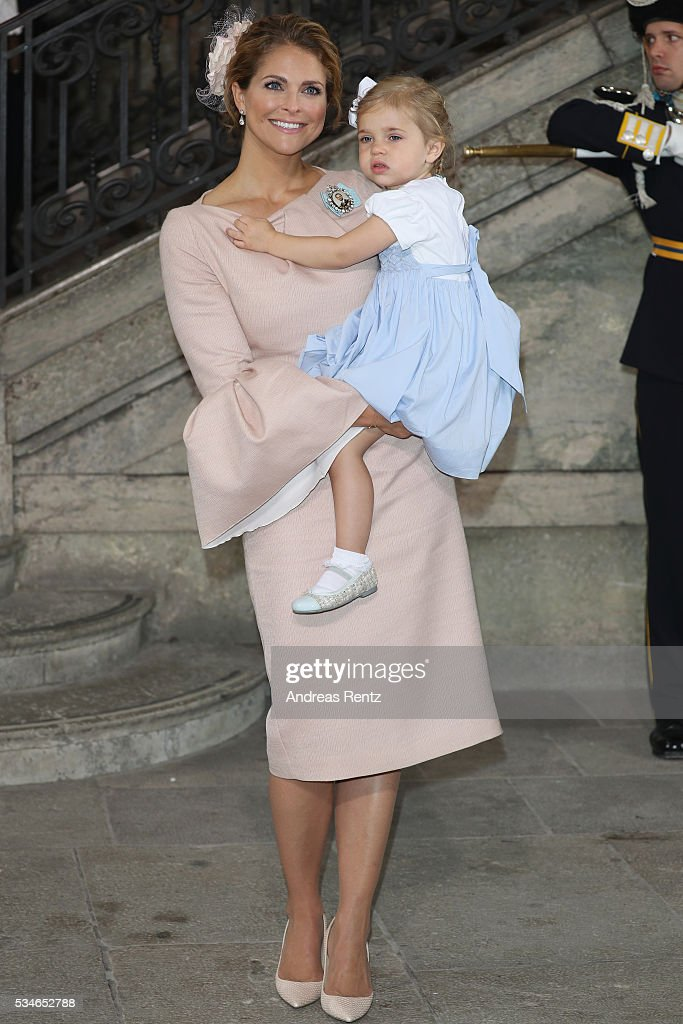 Christening of Prince Oscar of Sweden : News Photo