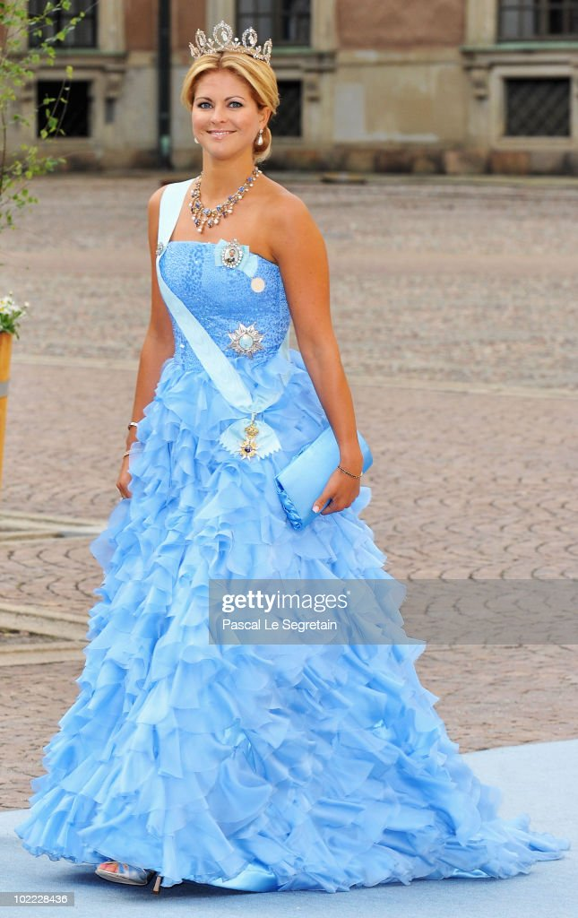 Princess Madeleine of Sweden arrives to attend the Wedding Banquet for Crown Princess Victoria of Sweden and her husband prince Daniel at the Royal Palace on June 19, 2010 in Stockholm, Sweden.