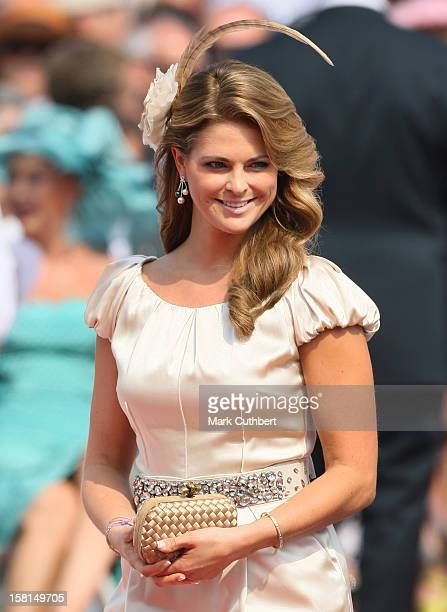 Princess Madeleine Of Sweden Arriving At The Royal Palace In Monaco For The Wedding Of Hsh Prince Albert Ii Of Monaco To Miss Charlene Wittstock