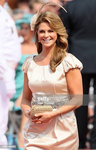 Princess Madeleine Of Sweden Arriving For The Wedding Of Prince Albert Ii Of Monaco And Charlene Wittstock At The Place Du Palais