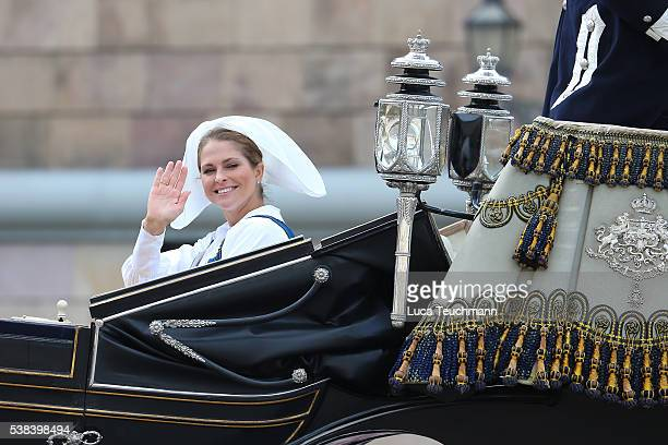 Princess Madeleine of Sweden attend the National Day Celebrations on June 6 2016 in Stockholm Sweden