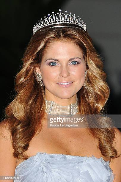 Princess Madeleine of Sweden attends a dinner at Opera terraces after the religious wedding ceremony on July 2 2011 in Monaco The RomanCatholic...