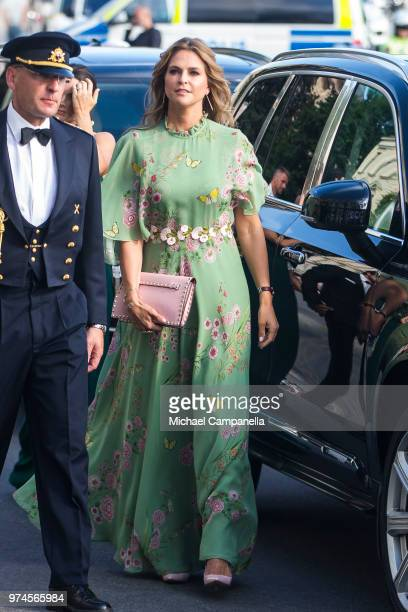 Princess Madeleine of Sweden attends the 2018 Polar Music Prize award ceremony at the Grand Hotel on June 14 2018 in Stockholm Sweden